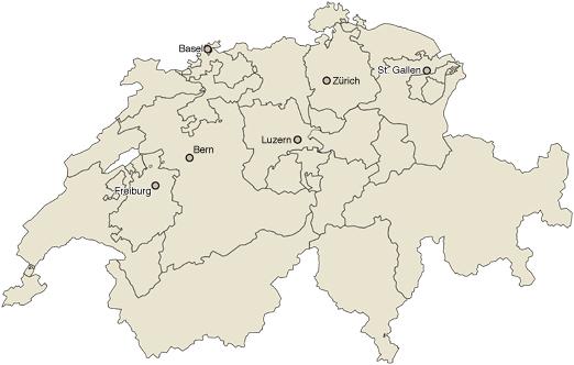 Wir sind nicht allein – Karte Schweiz